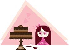 Tentazione della torta Fotografie Stock