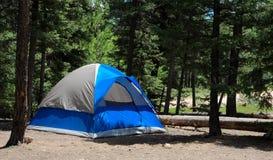 Tente bleue Image libre de droits