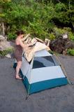 Tente-Camper de lancement d'A Image libre de droits