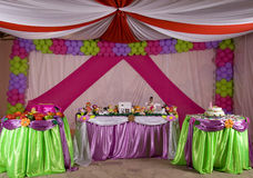 Tente d'anniversaire Photo stock