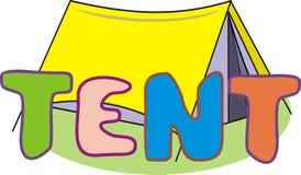 TENTE d'inscription Image libre de droits
