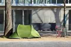Tente d'un sans-abri Images stock
