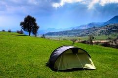 Tente dans le ciel Images stock