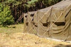 Tente dans les bois Image stock