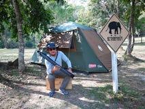 Tente de camping en parc de nation de la Thaïlande Image libre de droits