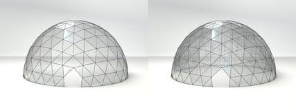 Tente de dôme par jour Images stock