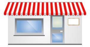 Tente de devanture de magasin en rouge Photos stock