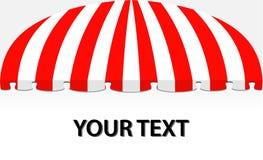 Tente de devanture de magasin en rouge Image libre de droits