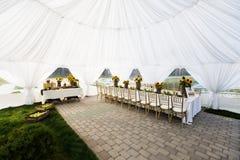 Tente de mariage Photo libre de droits