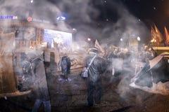 Tente de neige dans la capitale Images libres de droits