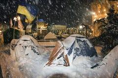 Tente de neige dans la capitale Photographie stock libre de droits