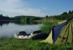 Tente de pêche Image stock