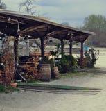 Tente de plage Photos libres de droits