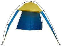 Tente de plage d'isolement Photo stock
