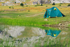 Tente de touristes Images stock