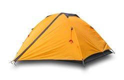 Tente de touristes fermée orange Image stock