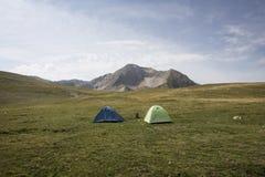 Tente en montagne Image libre de droits