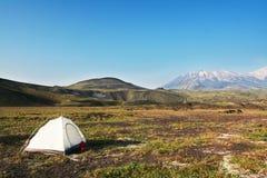 Tente en montagne Image stock