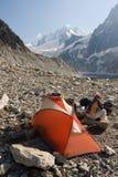 Tente en montagnes d'été Image libre de droits