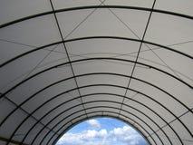 Tente extérieure de tissu de tension photo libre de droits