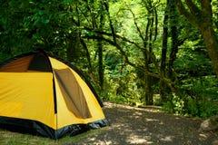 Tente jaune Image libre de droits