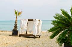tente jaune canari de l'Espagne d'île de fuerteventura de plage Images libres de droits