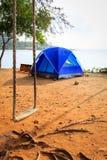 tente jaune canari de l'Espagne d'île de fuerteventura de plage Photographie stock