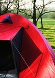 Tente rouge Photographie stock libre de droits