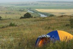 Tente sur la colline Photo libre de droits