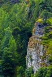 Tente sur la haute roche Photos libres de droits