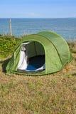 Tente touristique verte Images libres de droits
