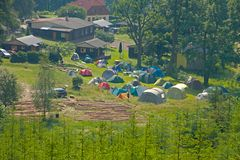 Tented camp Stock Image