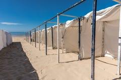 Tenten op het Strand Royalty-vrije Stock Foto