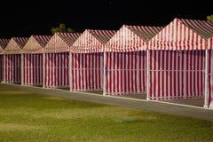 Tenten in rijen Royalty-vrije Stock Afbeeldingen
