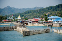 Tentena, Sulawesi. Royalty Free Stock Images