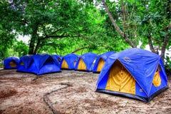 Tentes bleues image libre de droits