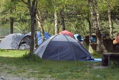 Tentes campantes Photos stock