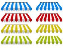 Tentes colorées. Ensemble de vecteur. illustration stock