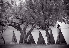 Tentes de guerre civile Image stock
