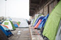 Tentes de réfugié Image stock