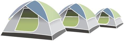 Tentes de vecteur illustration stock