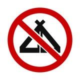 Tentes non permises illustration de vecteur