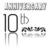 Tenth anniversary Stock Photography
