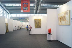 The Tenth China (Shenzhen) International Cultural Industry Fair in winter craft art exhibition Royalty Free Stock Photo