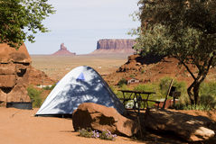 Tenting. Tent camping in Monument Valley Stock Photos