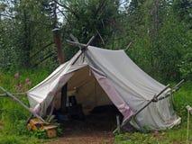 Tenting in der Wildnis lizenzfreies stockbild