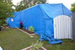 Tenting à la maison/fumigation structurelle Photo libre de droits