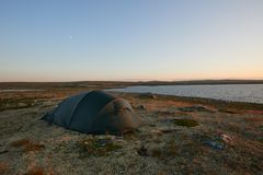 Tenting in the National Park stock photography