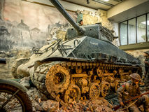 Tentoongesteld voorwerp bij de Militaire Musea, Calgary Royalty-vrije Stock Afbeelding