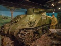 Tentoongesteld voorwerp bij de Militaire Musea, Calgary Royalty-vrije Stock Foto's